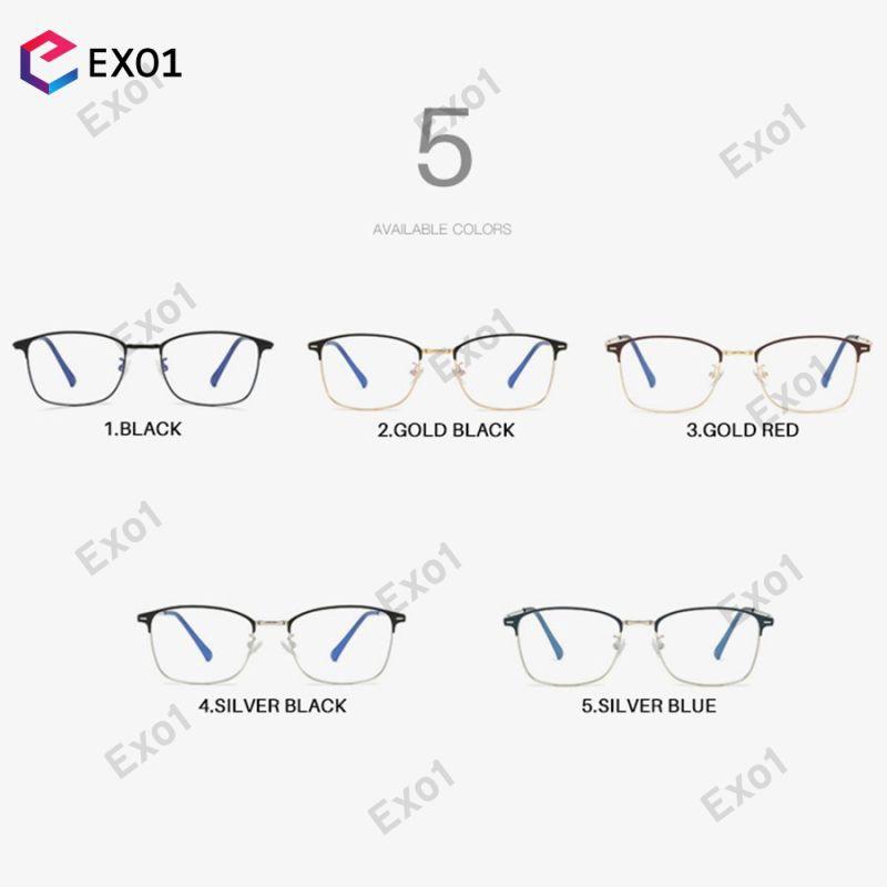 [Can COD] Anti-Blue Light Prescription Men Optical Eyeglasses Photochromic Glasses Frame Women Eyewear 4.8 EXO