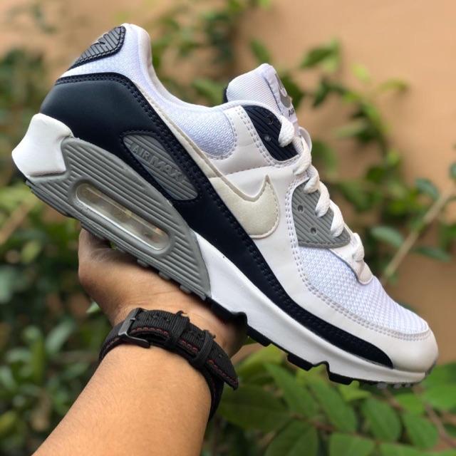 Nike Airmax 90 Bnwb รองเท้าผ้าใบลําลองสีขาวสีดํา
