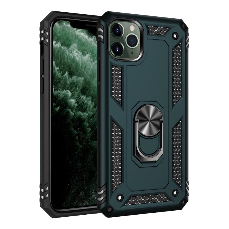 เคสโทรศัพท์มือถือแบบสองชั้นสไตล์ทหารสําหรับ Iphone 11 Pro Max 360 Degr