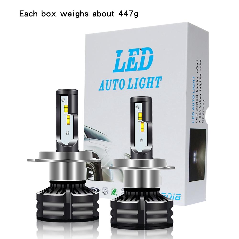 9005+9006 Golden Yellow 120W 16000LM Combo LED Headlight High//Low Beam 4 Bulbs