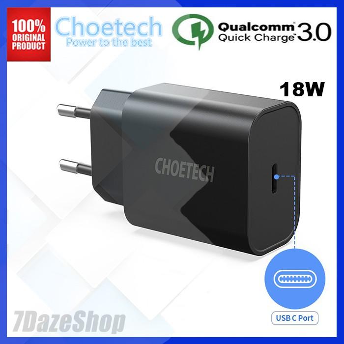 Choetech Qc3.0 18W Type-C To USB 3.0 อุปกรณ์ชาร์จแบตเตอรี่พร้อม Pd3.0 ที่ชาร์จอย่างรวดเร็ว