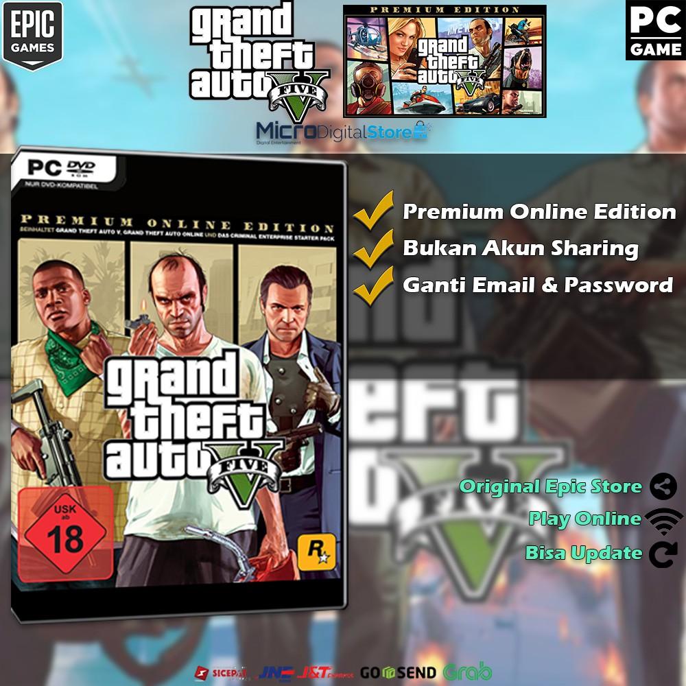 Gta V Premium Online Edition Epic เกมของเล่นสําหรับเครื่องคอมพิวเตอร์