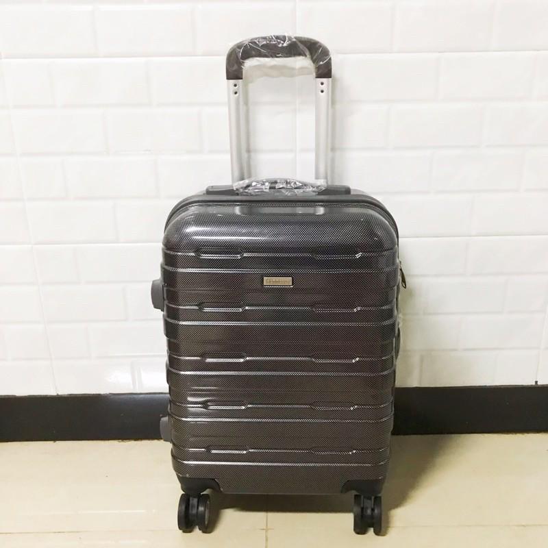 กระเป๋าเดินทางล้อลาก Hennessy ลายเคฟล่า สีดำ 18 นิ้ว