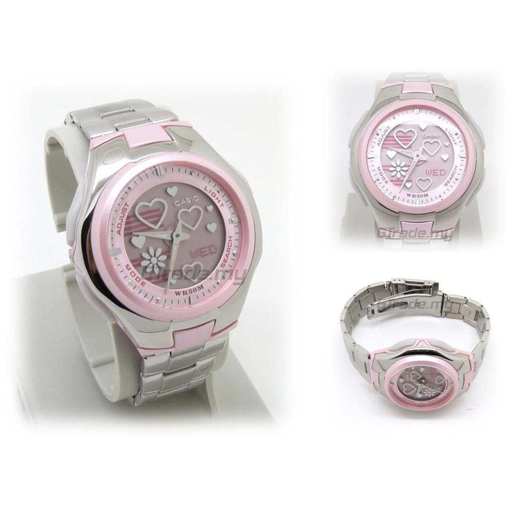 ✻✑นาฬิกา รุ่น CASIO POPTONE นาฬิกาผู้หญิง สีเงิน สายสแตนเลส LCF-10D-4AVDRF ใหม่ของแท้100% ประกัน1 ปี จากร้าน MIN WATCH