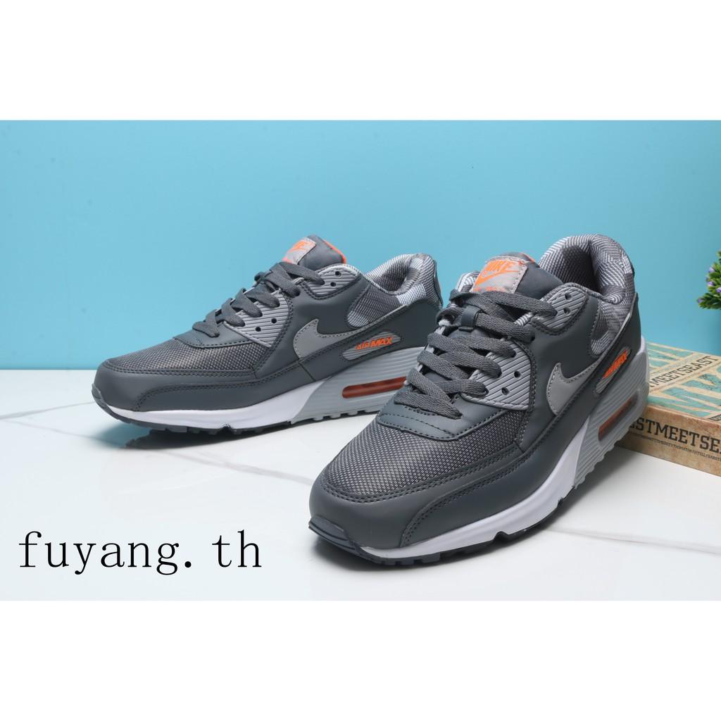 รองเท้าลำลองผู้ชาย NIKE AIR MAX90 Y551 Leisure Motion Cushion รองเท้าออกกำลังกาย 25