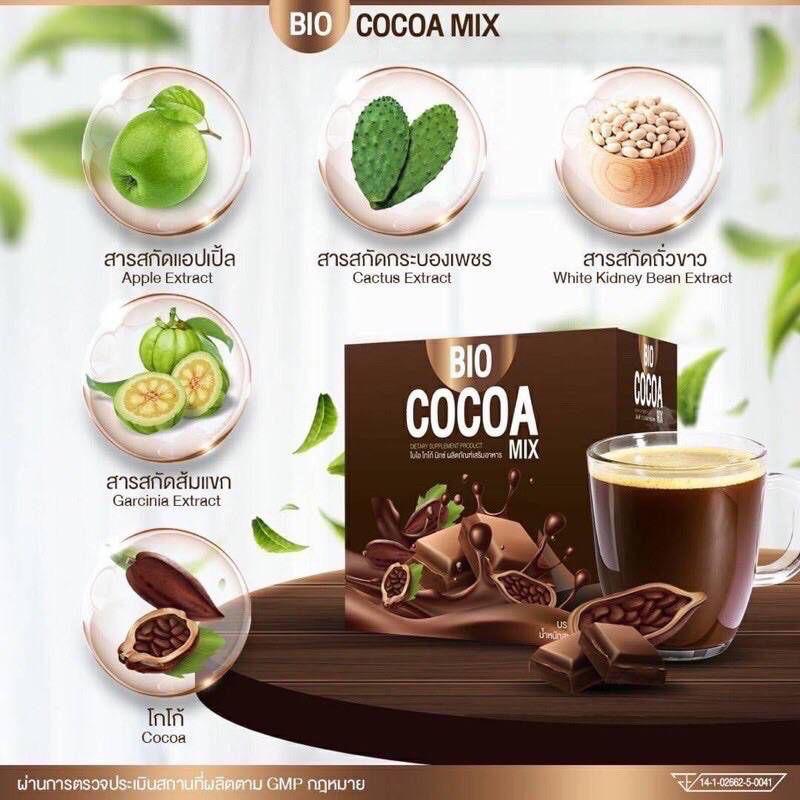 สมุนไพรดีท็อกซ์ ดีท็อกซ์ พร้อมส่ง!! ไบโอโกโกมิกซ์ Bio Cocoa Mixkhunchan (1กล่อง/10ซอง)