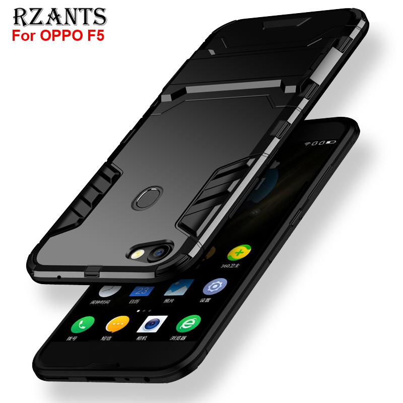 big sale a8d57 ef019 OPPO F5 เคส Hard Case 【Shockproof Stand Casing 】Full Protect Thin Armor  Slim Cover