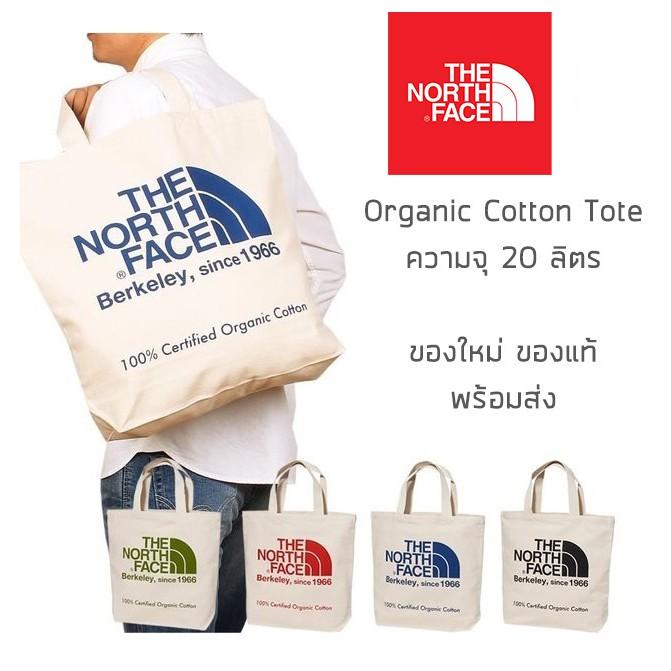 กระเป๋าผ้าสะพายข้าง The North Face - Organic Cotton Tote รุ่นพิเศษจากญี่ปุ่น ของใหม่ ของแท้ พร้อมส่ง