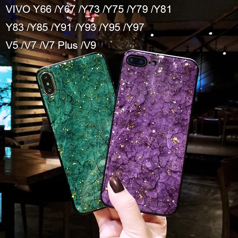 VIVO V5 /V7 /V7 Plus /V9 /Y66 /Y67 /Y73 Y75 //Y79 /Y81 /Y83 /Y85 /Y91 /Y93 /Y95 /Y97 Case Gold Foil Phone Case
