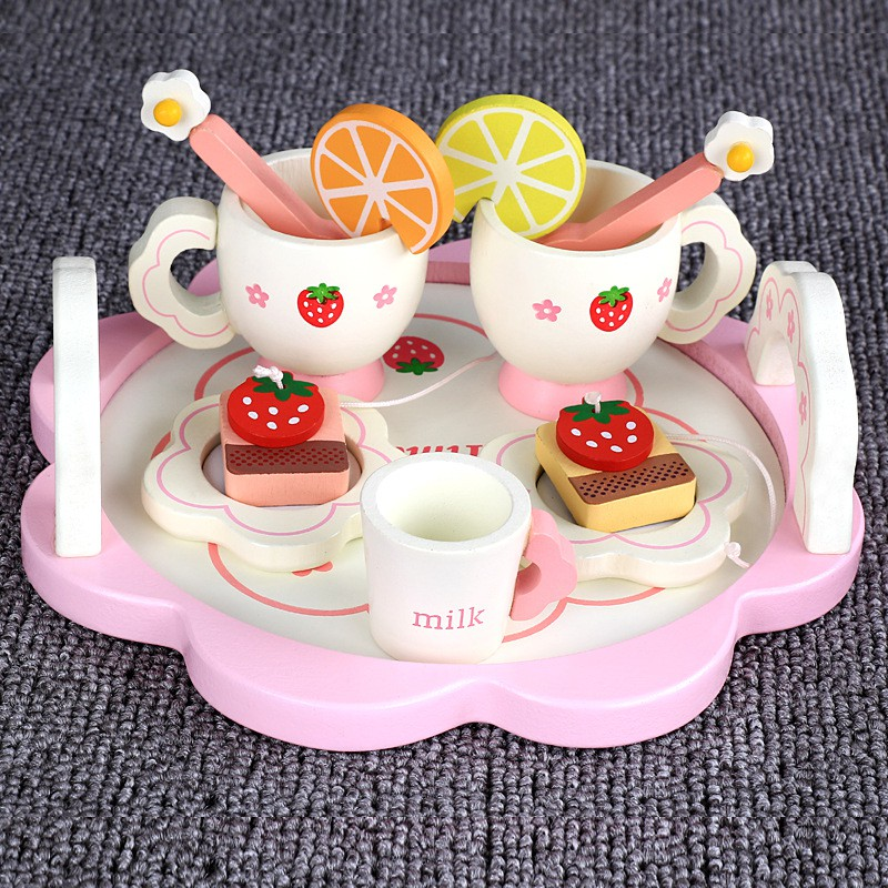 โรงงานขายตรงสาวจำลองทำอาหารเด็กเล่นบ้านชุดครัวน้ำชายามบ่ายวันเกิดเครื่องชงกาแฟของเล่น