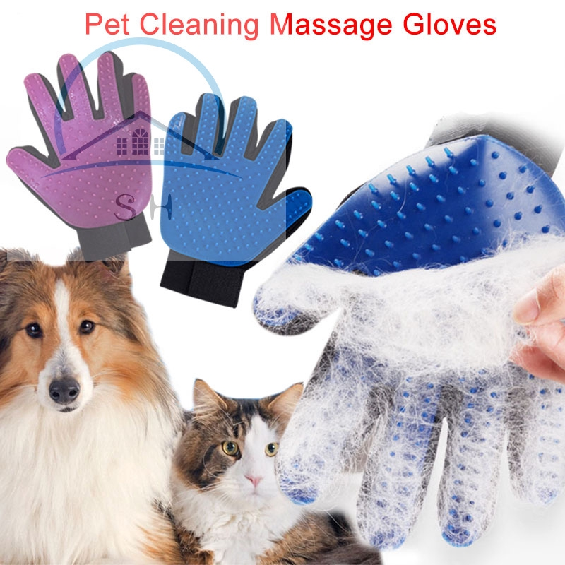 2in1 Multifuction Pet Dog Puppy Animal Horse Hair Fur Remover Massage Glove Hot