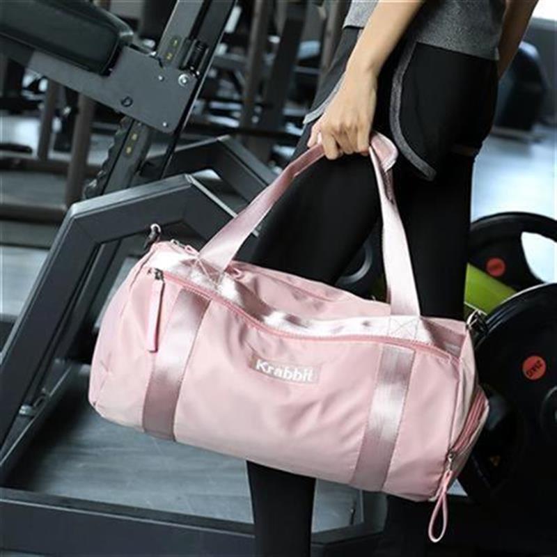 ผ้าใบกระเป๋ากีฬาหญิงฟิตเนสกระเป๋าใบเล็กแห้งและเปียกแยก y ฝึกโยคะ JK กระเป๋าสุทธิสีแดงเดินทาง X กระเป๋ากระเป๋าระยะทางสั้น