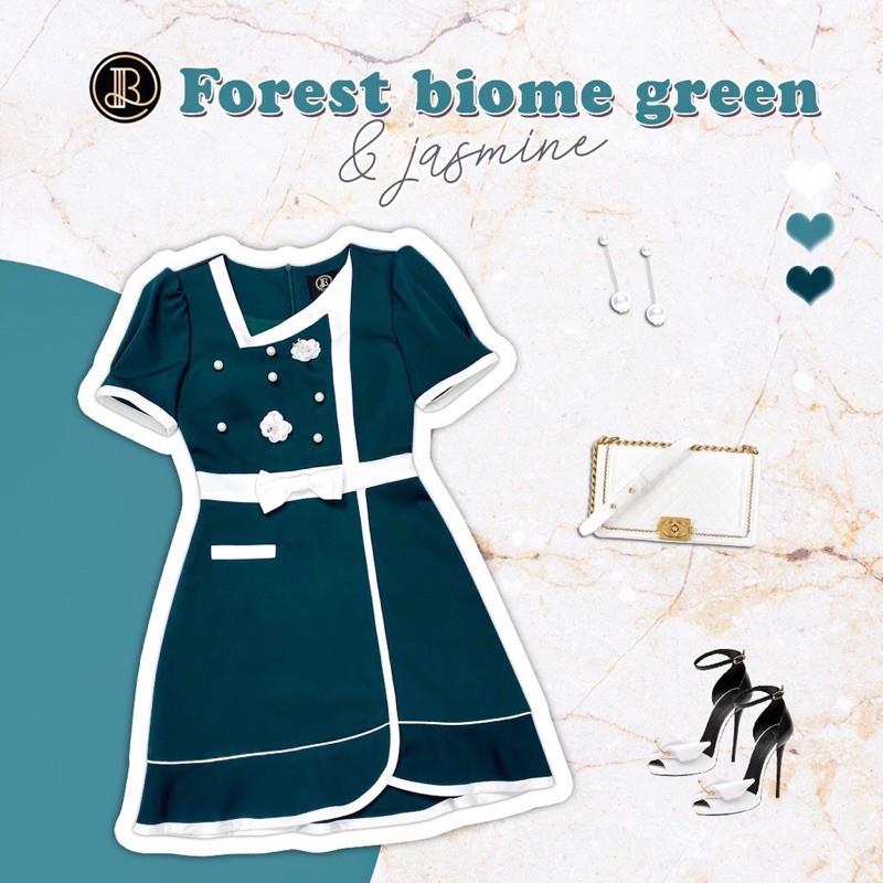❌เหลือแค่ XS❌ Forest biome green Mini Dress BLT BRAND : มินิเดรสสีเขียวเข้ม