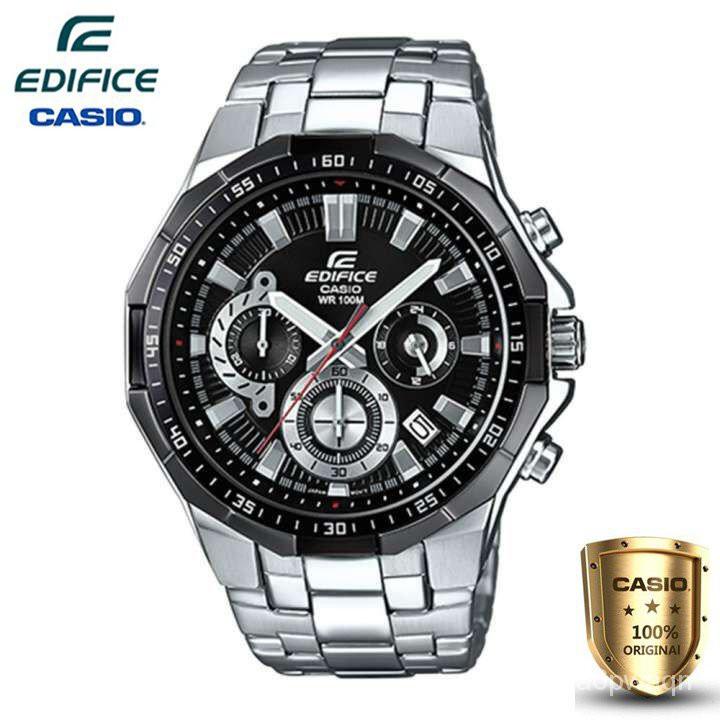 Casio Edifice นาฬิกาข้อมือผู้ชาย สีดำ สายสแตนเลส รุ่น EFR-554D-1AV