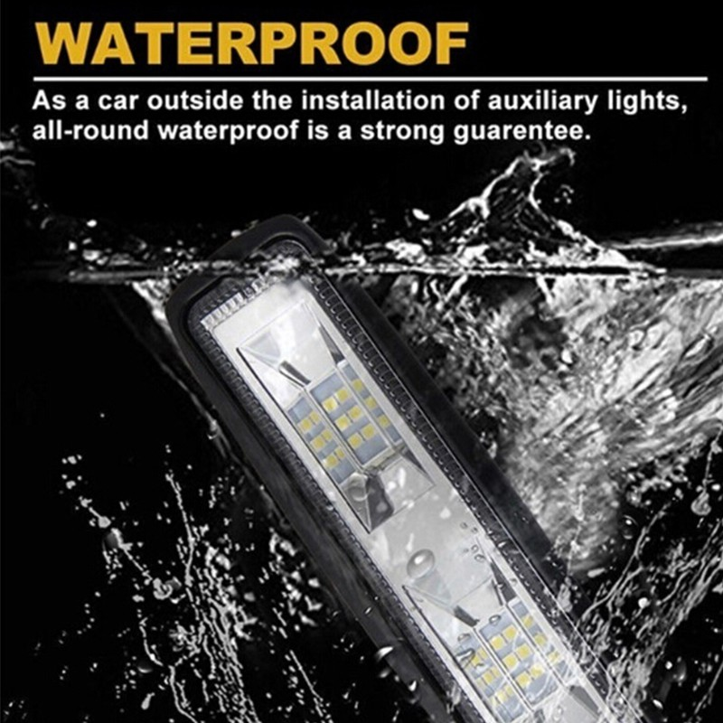 4× 6Inch 48W 16LED Work Light Flood Beam Bar Car SUV Off Road Driving Fog Lamps