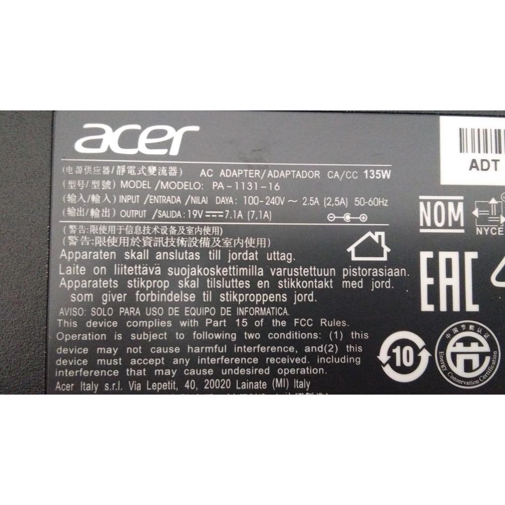 Adapter ACER 19V 7.1A ขนาดหัวเสียบ(5.5x1.7) //สายชาร์ตไฟโน๊ตบุค//All in one แอมป์สูง คุณภาพดีเยี่ยม ประกัน 6เดือน KyRj K