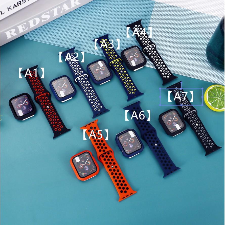 สายรัดซิลิโคน Nk + เคสพีซีสายรัด01 Apple Watch สายซิลิโคนเหลว iWatch Series SE 6 5 4 3 2 1 สาย Applewatch38 40 42 44mm