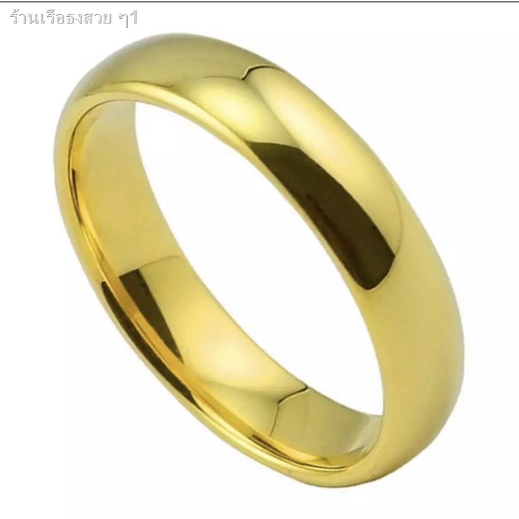 2021 ราคาต่ำขายร้อน♨❣แหวนเกลี้ยง 1-3สลึง แหวนเศษทองเยาวราช แหวนหุ้มทองคำแท้ งานไมครอน กว้าง3มิลแหวนแต่งงาน แหวนหมั้นR-06