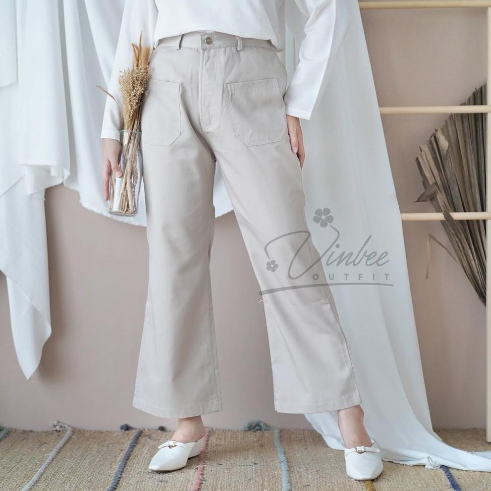Azza กางเกงตัดกางเกง Cutbray