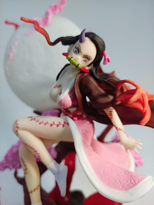 32cm Demon Slayer:Kimetsu No Yaiba Demon Kamado Nezuko Statue Figure Model hkIq