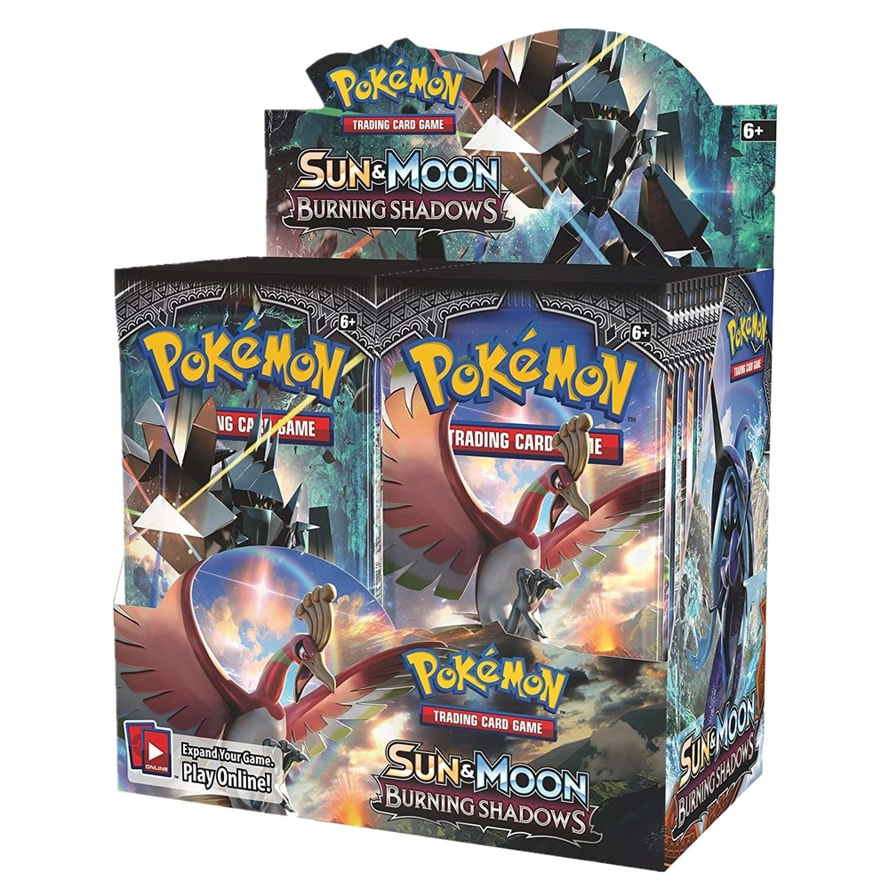 324Pcs/box Pokemon Cards TCG: Sun & Moon Burning Shadows Booster Box Collectible Trading Card Game