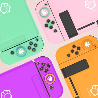 Cute Cat Paw Switch Protective Shell Silicone Cover Shell NS Lite Anti-fall Painted Sleeve Case For Nintendo Switch Accessories