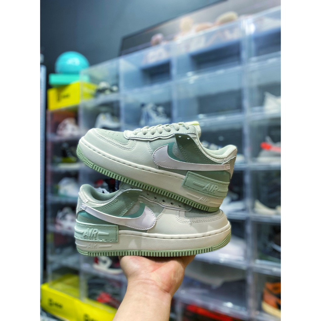 "Nike Air ""Force 1 Shadow XHU Air Force Macaron"" สะท้อนแสงสีเทาสีเขียว 3M"