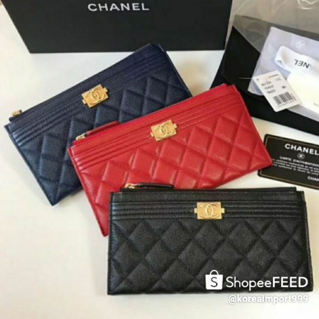 Chanel Boy All In One Wallet Caviar Leather