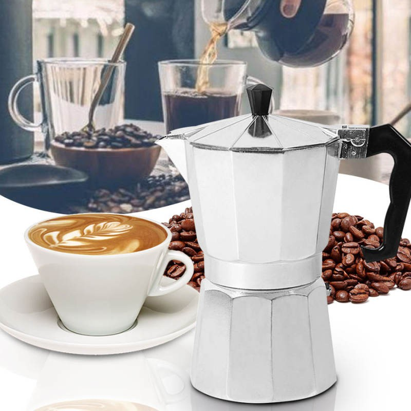 เครื่องชงกาแฟเอสเพรสโซ่ มอคค่า กาต้มกาแฟสดเครื่องชงกาแฟสด เครื่องทำกาแฟ แบบปิคนิคพกพา ใช้ทำกาแฟสดทานได้ทุกที
