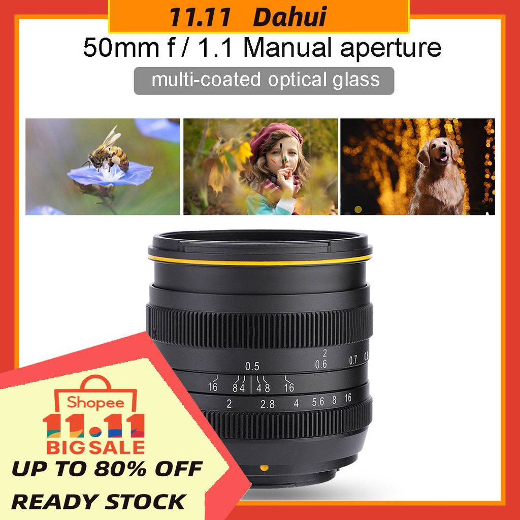 Kamlan 50mm F/1.1 II APS-C Manual Focus Lens for M4/3 FujiX ...