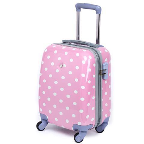 ✇กระเป๋าใส่มินิ 18 นิ้วลายจุดน่ารักรถเข็น 16 นิ้วกระเป๋าเดินทางขนาดเล็กกระเป๋าเดินทางล้อเลื่อนกระเป๋าเดินทางขนาด 24 นิ้ว