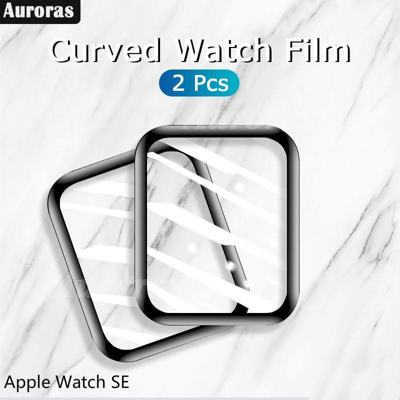 ( 2 ชิ้น ) ฟิล์มกระจกนิรภัยกันรอยหน้าจอสําหรับ Applewatch Se