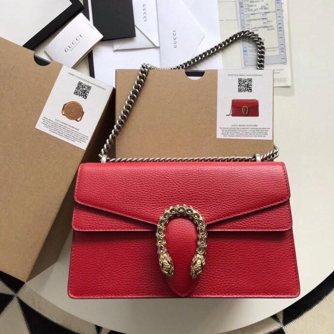 Gucci Rea Dionysus leather shoulder  bag