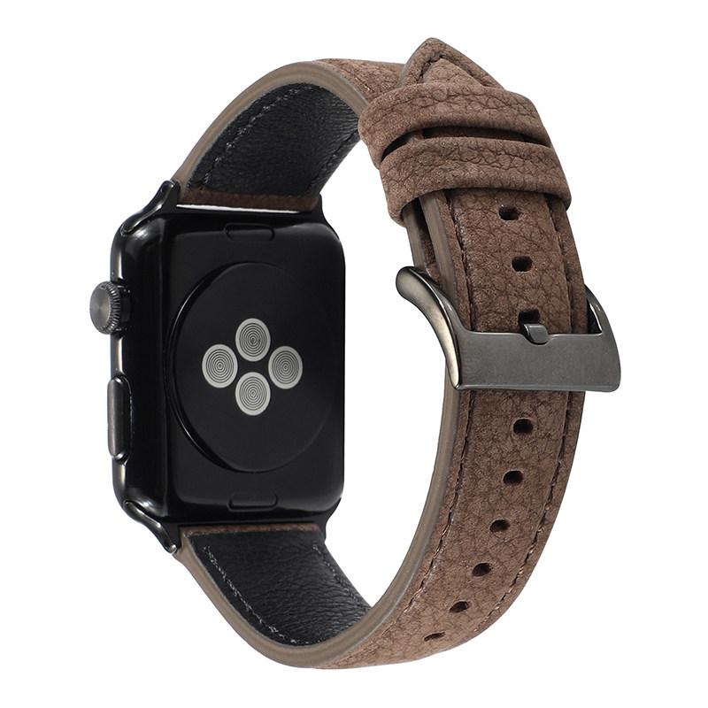 iWatch สายรัดSuoke เหมาะสำหรับapplewatch6สายiwatchseนาฬิกาสายหนังสำหรับผู้ชายและผู้หญิงiwatch5/4/3/2/1รุ่นseries38mmกีฬา