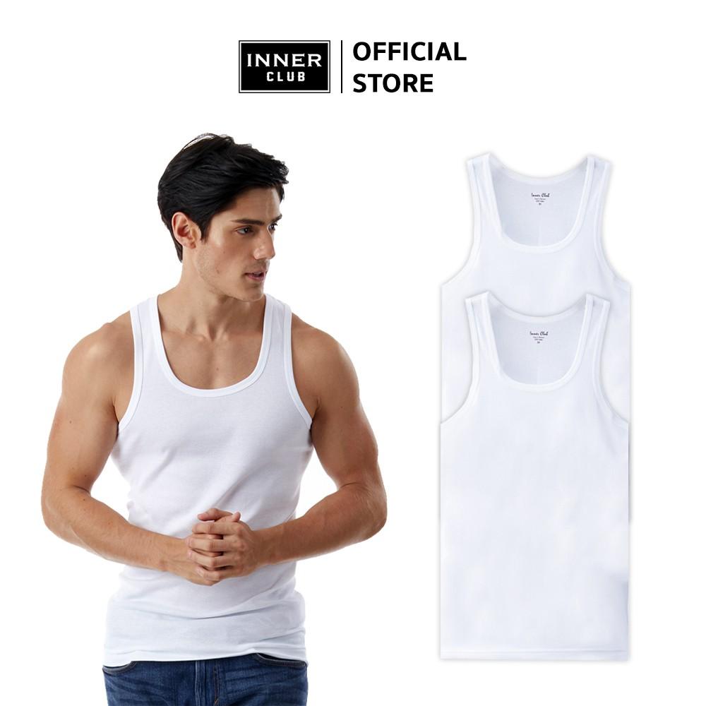 Inner Club เสื้อกล้ามชาย (แพค 2 ตัว) สีขาว