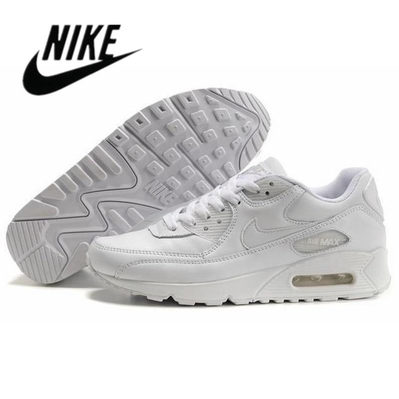 2021 Nike-Air Max 90 Airmax คลาสสิกสีดำสีขาวผู้ชายผู้หญิงสีดำสีฟ้ใบรองเท้าวิ่ง