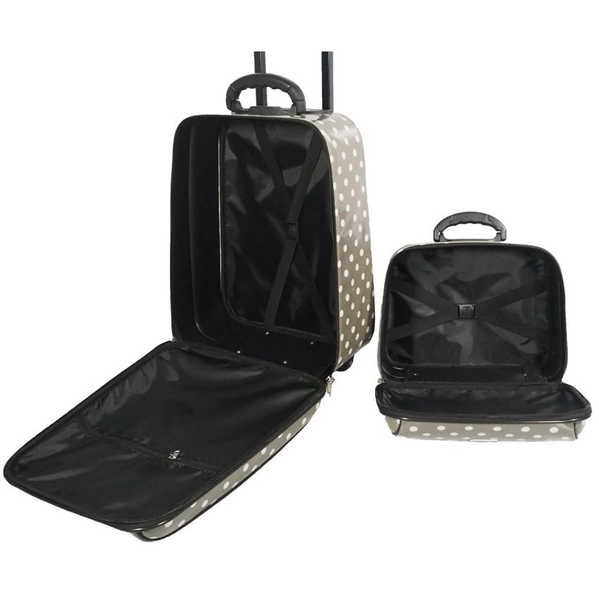กระเป๋าเดินทางล้อลาก ขนาด 18 นิ้ว และ 14 นิ้ว รุ่น 7719  (Grey) EbBa