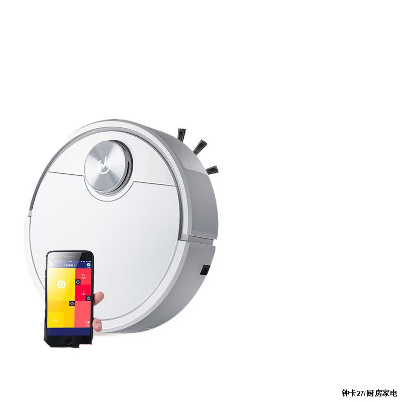 FunHome【รับประกัน5ปี】หุ่นยนต์ดูดฝุ่น หุ่นยนต์กวาด 3 ใน 1 กวาดดูดและถู เส้นผ่านศูนย์กลาง 28 ซม หุ่นยนต์ดูดฝุ่น (ES081