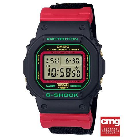 CASIO G-Shock DW-5600THC-1DR (สายผ้า) ของแท้ มือหนึ่ง ประกันศูนย์