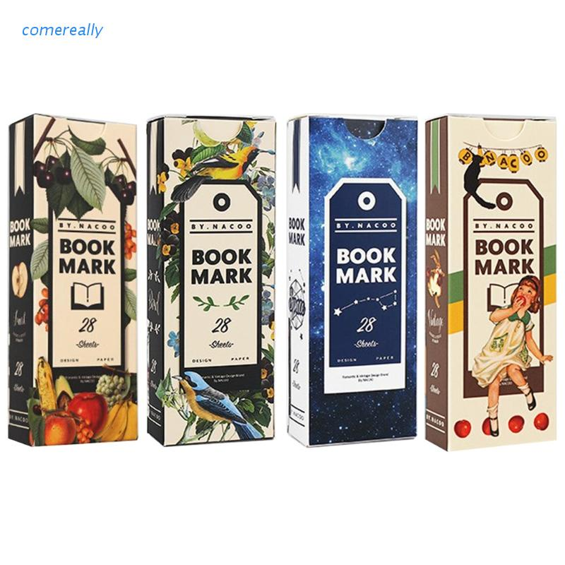 comereally Retro Bookmark Colored Space Bookmark Paper Creative Stationery Tab For Books