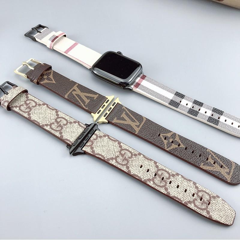 【Apple Watch Strap】ใช้ได้กับ Apple Watch รุ่น s6 ที่มีสายรัด iwatch3 รุ่นที่ 4 se หนัง applewatch1 แบรนด์แฟชั่น 5 Hua