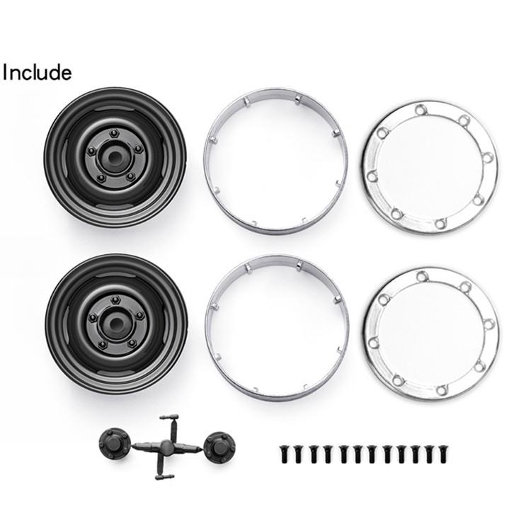 """2//4x 1.9/"""" Beadlock Wheel Rims for 1//10 Axial SCX10 CC01 Traxxas TRX-4 RC Crawler"""