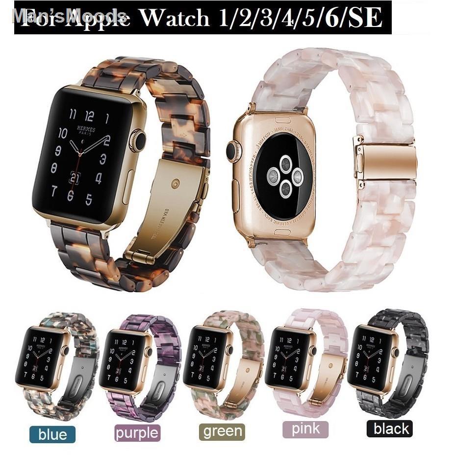 🔥สินค้าคุณภาพราคาถูก🔥สายนาฬิกา Apple Watch Resin Straps เรซิน สาย Applewatch Series 6 5 4 3 2 1 /  SE Stainless Steel