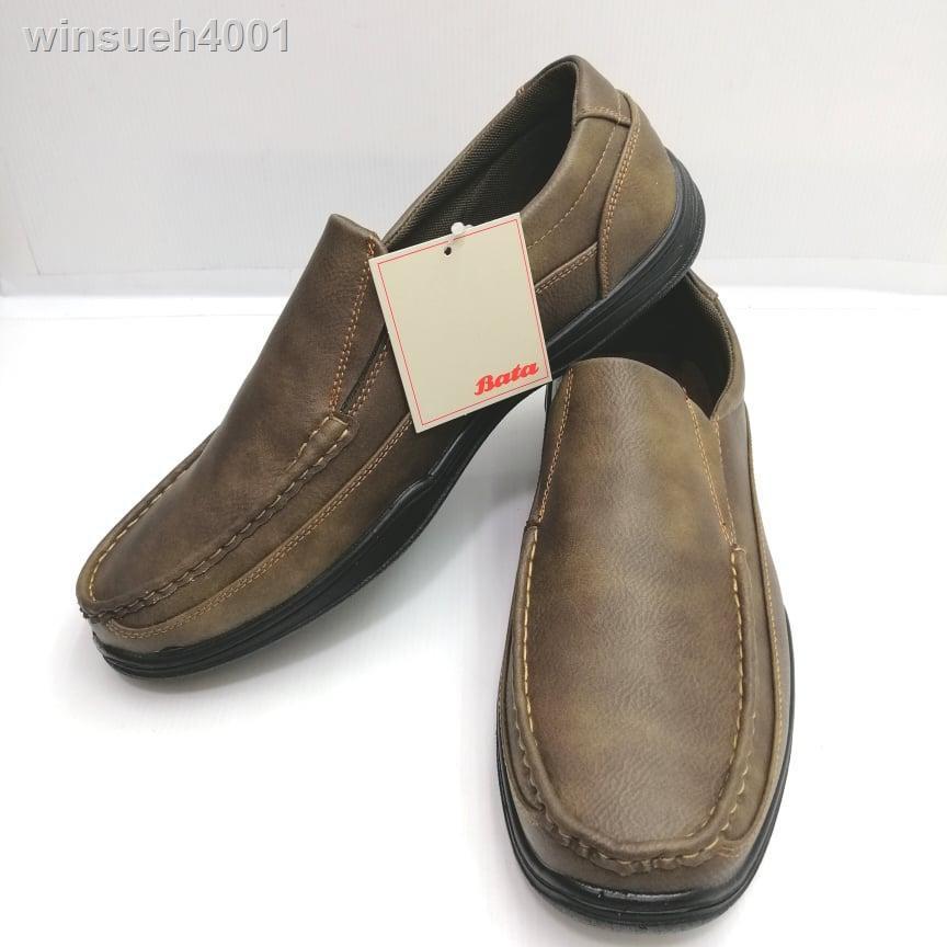 เสื้อโค้ทผู้ชาย۞℗(851-7727) Bata รองเท้าหนังคัชชูผู้ชายบาจาสีน้ำตาลเบอร์ 5-11 (38-46) รุ่น 851-7727