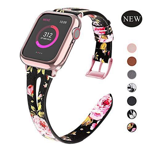 สายเปลี่ยนสำหรับ applewatch Apple Watch สายหนัง 44mm 42 มม. 40 มม. 38 มม.series 5 4 3 2 1
