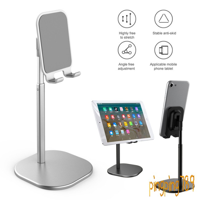 ดี Adjustable Desktop Stand Desk Holder Mount Cradle for Cell Phone Tablet Switch