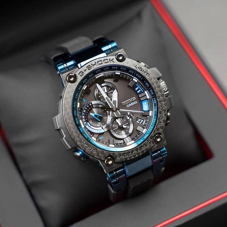 ใหม่นาฬิกาสปอร์ต CASIO MTG G-SHOCK บลูทู ธ พลังงานจลน์นาฬิกาคลื่นวิทยุชาย MTG-B1000