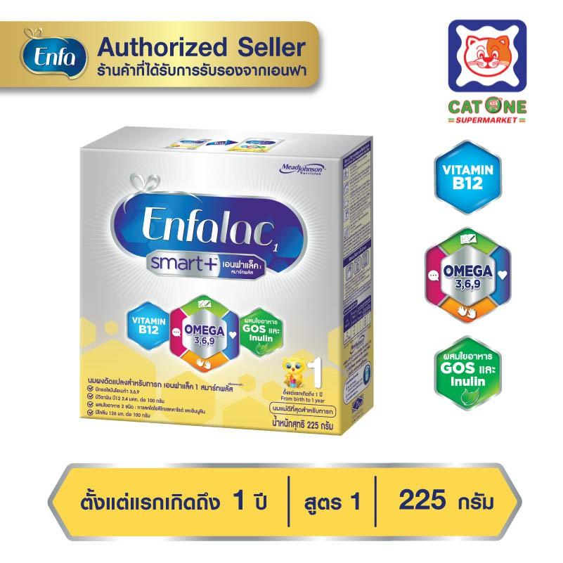 Enfalac เอนฟาแล็ค สมาร์ทพลัส สูตร 1 225 กรัม สำหรับเด็กแรกเกิด - 1 ปี