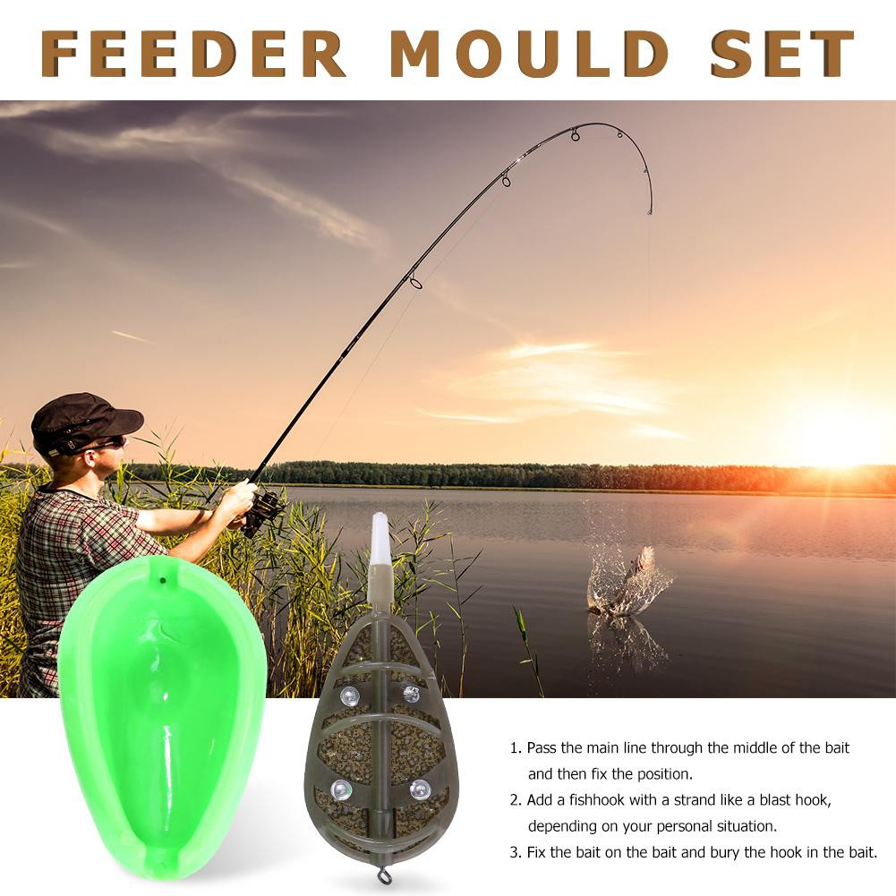 Fishing Feeder Method Mould Carp Baits Tool Quick Release Moulds Green