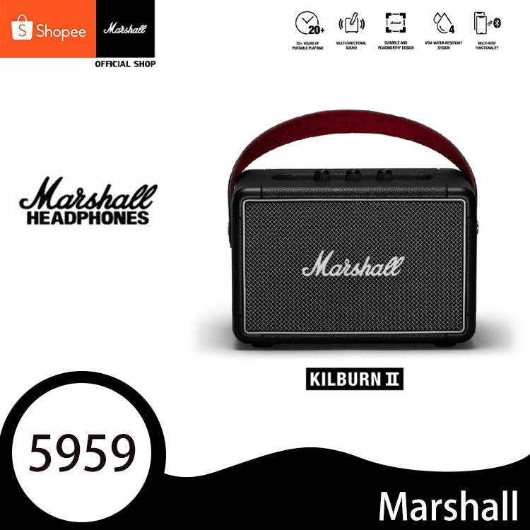 Marshall Kilburn II Black - marshall ลำโพงบลูทูธ มาร์แชล  ลำโพงคอมพิวเตอร์ ลำโพง Bluetooth ประกัน 1 ปี COD
